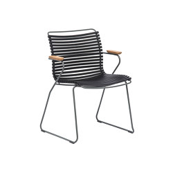 CLICK   Dining chair Black with Bamboo armrests   Stühle   HOUE