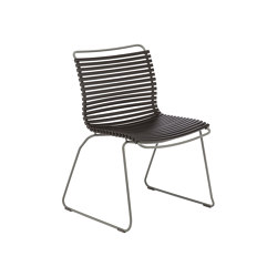 CLICK | Dining chair Black No Armrest | Sillas | HOUE