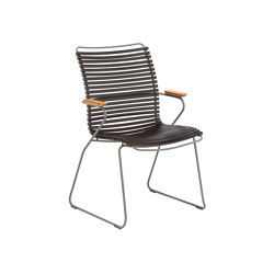 CLICK | Dining chair Black Tall Back | Sillas | HOUE