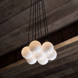 Drape Cluster 7 Pendant (4.5 In Glass) | Suspensions | SkLO