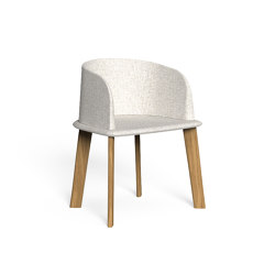 Cleo Teak | Padded Tub Chair | Chaises | Talenti