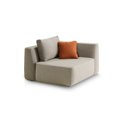 Plump Short side module | Modular seating elements | Expormim