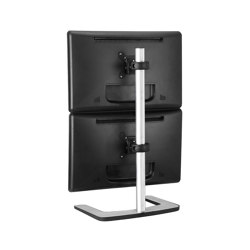 Set & Forget | Dual Display Vertical Mount with a Freestanding Base VFS-DV | Table equipment | Atdec