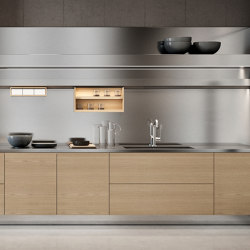 Gamma linear layout | Fitted kitchens | Arclinea