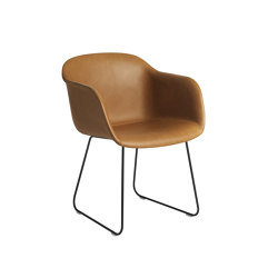 Fiber Armchair | Sled Base | Leather | Chairs | Muuto