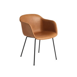 Fiber Armchair | Tube Base | Leather | Sillas | Muuto