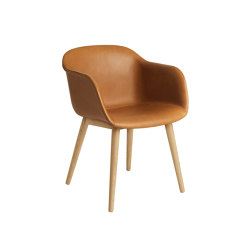 Fiber Armchair | Wood Base | Leather | Chairs | Muuto