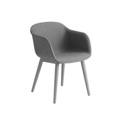 Fiber Armchair | Wood Base | Textile | Sillas | Muuto
