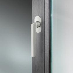 FSB 34 1005 Window handle for narrow profiles, with flush roses | Lever window handles | FSB