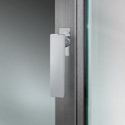 FSB 34 1003 Window handle for narrow profiles, with flush roses | Lever window handles | FSB