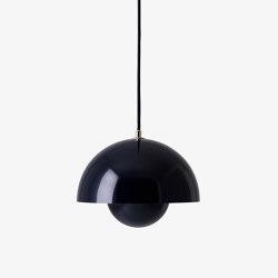 FlowerPot Pendant VP1 black blue   Suspended lights   &TRADITION