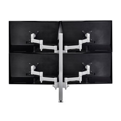 Modular | 4 x 460mm Arms on 750mm Post Desk Monitor Mount AWMS-4-4675 | Table equipment | Atdec