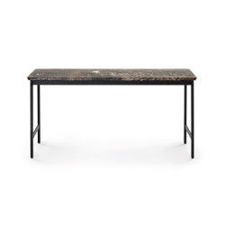 Capilano Small Table 96x30 - Version with Fondovalle Lava Top | Coffee tables | ARFLEX