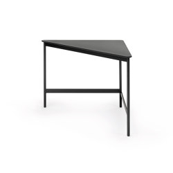 Capilano Small Table 55x55 - Triangular Version with Fondovalle Lava Top | Side tables | ARFLEX