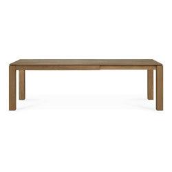 Slice | Teak extendable dining table - legs 10 x 10 cm | Dining tables | Ethnicraft