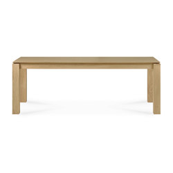 Slice | Oak dining table - legs 10 x 10 cm | Dining tables | Ethnicraft