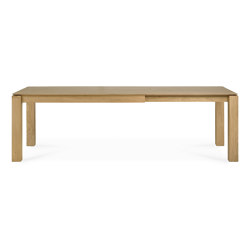 Slice | Oak extendable dining table - legs 10 x 10 cm | Dining tables | Ethnicraft