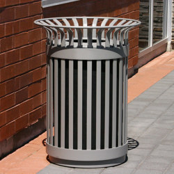 MLWR200-32-ST Trash Container | Waste baskets | Maglin Site Furniture