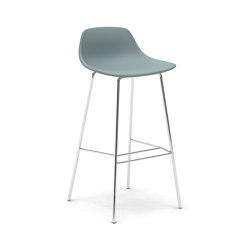 Pure Loop Mini 4 legs bar stool upholstered | Sgabelli bancone | Infiniti