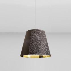 Melting Pot SP 80 dark patterns with gold inside   Suspended lights   Axolight