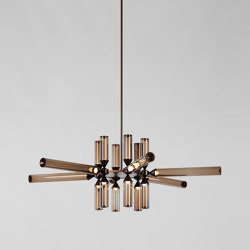 Castle 18-01 (Bronze/Smoke) | Suspended lights | Roll & Hill