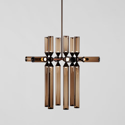 Castle 18-02 (Bronze/Smoke) | Suspended lights | Roll & Hill