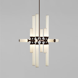 Castle 18-03 (Bronze/Cream) | Suspended lights | Roll & Hill
