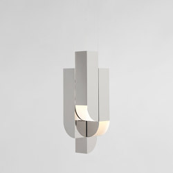 Cora Pendant - 4 Lights (Polished nickel) | Lámparas de suspensión | Roll & Hill