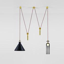 Shape Up Double Pendant (Blackened steel) | Lampade sospensione | Roll & Hill