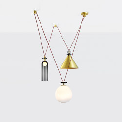 Shape Up 3-Piece Chandelier (Brushed brass) | Lámparas de suspensión | Roll & Hill