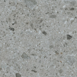 Iseo iTOP Gris Bush-hammered | Ceramic panels | INALCO