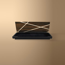 Wood Lines Accessory Box Ebony Makassar | Contenitori / Scatole | Ivar London