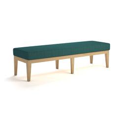 Jackson 3 seat wood frame bench | Bancos | ERG International