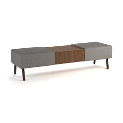"Laguna 66"" bench with center table 