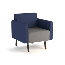 Laguna lounge seat with wood legs   Armchairs   ERG International