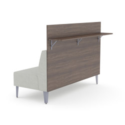 Malibu Straight Unit with a laminate panel and bar height shelf. | Sofas | ERG International