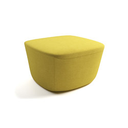 Vella fully upholstered ottoman | Pufs | ERG International