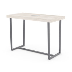 Parma bar height table angled metal table with an optional crossbar | Standing tables | ERG International