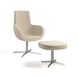 Vella high back and ottoman | Poltrone | ERG International