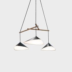 Emily Group of Three semi-matte | Suspended lights | Daniel Becker Studio
