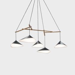 Emily Group of Five semi-matte | Suspended lights | Daniel Becker Studio