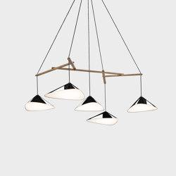 Emily Group of Five high gloss | Suspended lights | Daniel Becker Studio