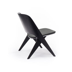 Lavitta Lounge Chair with Leather Upholstery – Stained Black | Poltrone | Poiat