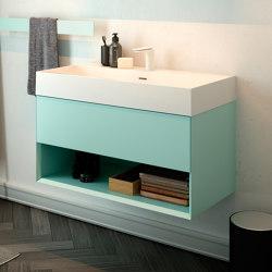 Labo Topsolid top or wall mounted washbasin | Wash basins | Inbani
