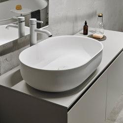 Prime 55 Solidsurface top mounted washbasin. | Wash basins | Inbani