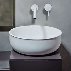 Prime Solidsurface top mounted washbasin Ø45. | Wash basins | Inbani