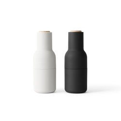 Bottle Grinder | Ash/Carbon  2-pack w. Beech Lid | Salt & pepper shakers | MENU