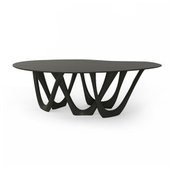 G-Table With Carbon Steel Graphite Grey Base And Top | Dining tables | Zieta