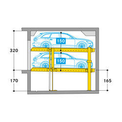Parklift 450 | Mechanic parking systems | Wöhr