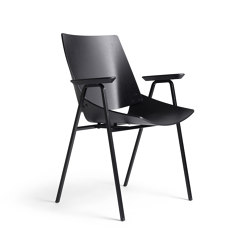 Shell Armchair Black Oak | Chairs | Rex Kralj